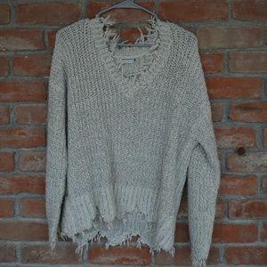 Lush black and white sweater
